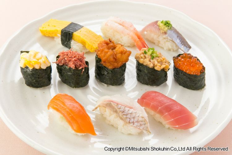 「出羽鶴 awa sake 明日へ 」に合う料理:にぎり寿司