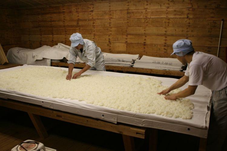 白鹿 麹造り 蒸米