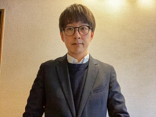 「国産原料100%ビール」開発担当の三菱食品株式会社 嶋岡さん