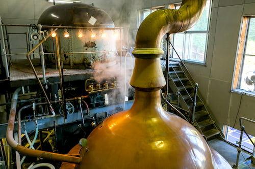 ベアレン醸造所のビールの味わいの原点 ドイツ製仕込み釜