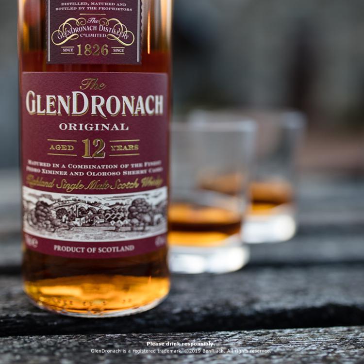 「グレンドロナック」は、シェリー樽で熟成されたクラシックなハイランドモルト