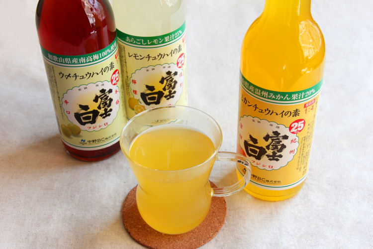 本格的なチュウハイが自宅でたのしめる「富士白レモンチュウハイ」が人気