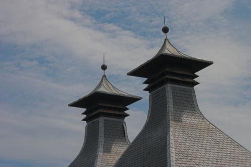 スコットランドのウイスキー蒸溜所のキルン