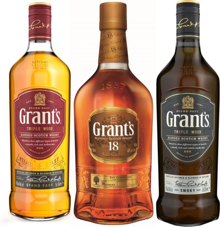ブレンデッドウイスキー「グランツ」のラインナップ