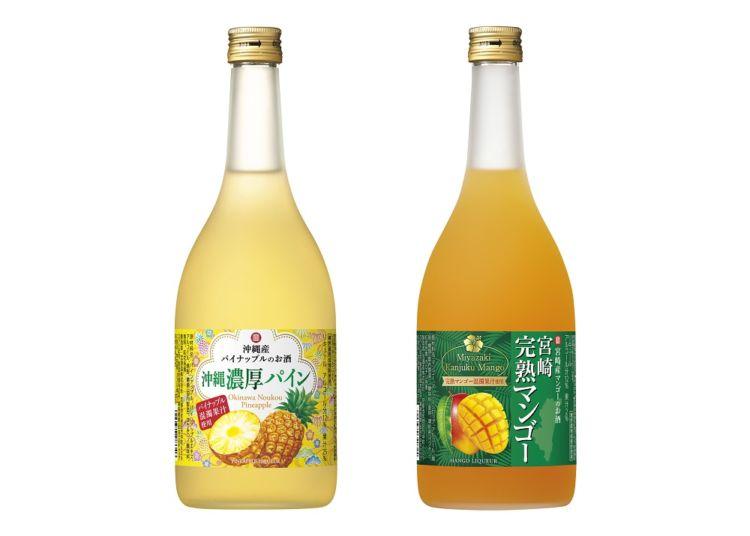 寶 沖縄産パイナップルのお酒「沖縄濃厚パイン」と、寶 宮崎産マンゴーのお酒「宮崎完熟マンゴー」新発売