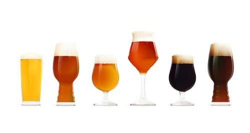 さまざまな種類のビール