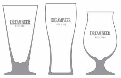 DREAMBEERオリジナルビアグラス3個セット