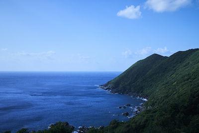 屋久島と碧い海