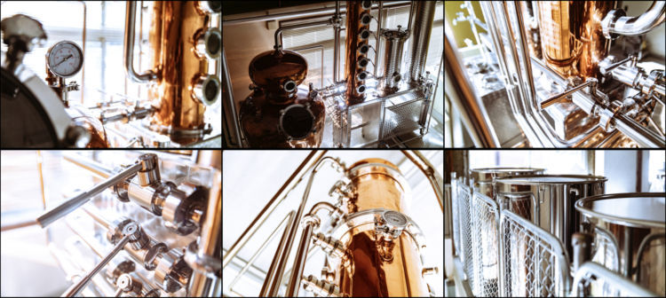 蒸留器の見学だけでなく、クラフトジンがたのしめるストアやBARも併設