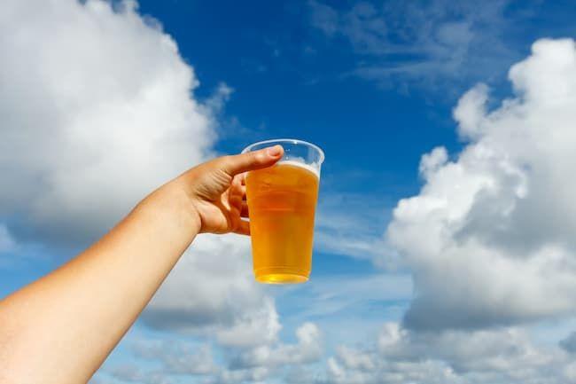 夏の暑い日にはビール