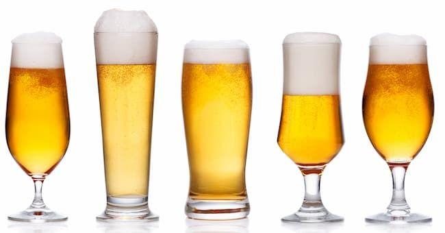 様々な形のビールグラス