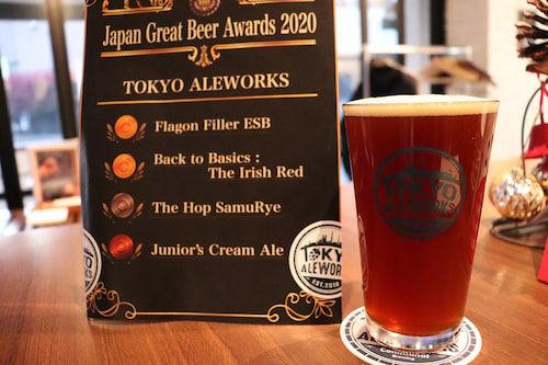 「Japan Great Beer Awards2020」で賞を取ったビール