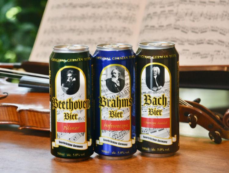 「ベートーヴェン」「ブラームス」「バッハ」をイメージしたビール「ドイツ三大作曲家ビール」が登場