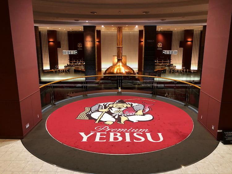 「3Dヱビスビール記念館」階段途中の恵比寿様