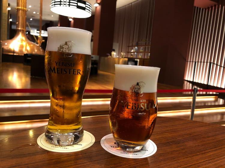 ヱビスビール記念館のテイスティングサロンでは、特別なヱビスも飲むことができます。