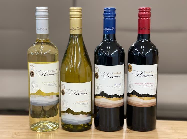ローソンでしか買えない旨安チリワインを赤・白2種類ずつ飲んでみました。なんと税込み498円で買える