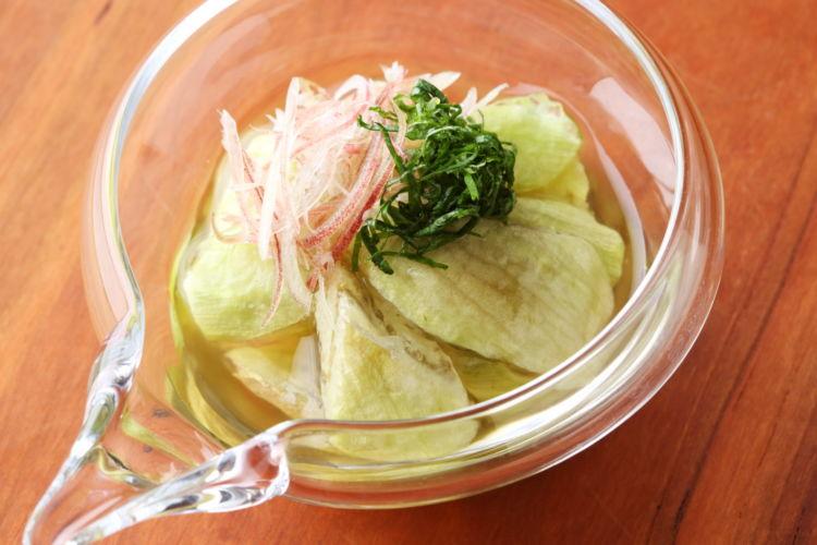 食感がおいしい秋ナスのおつまみ 「翡翠(ひすい)ナスの冷やし鉢」