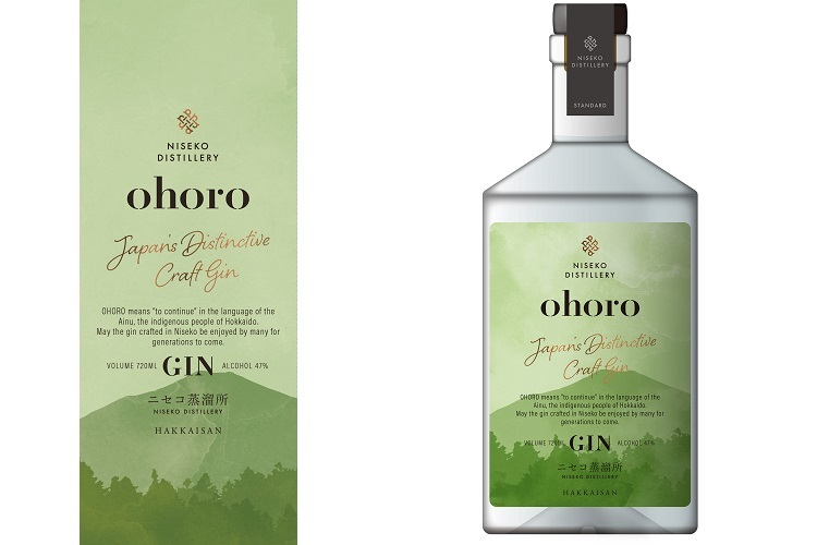 第一弾商品となるジン「ohoro GIN(スタンダード)」