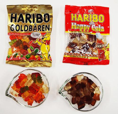 グミは、ハリボー「ゴールドベア」「ハッピーコーラ」を準備!