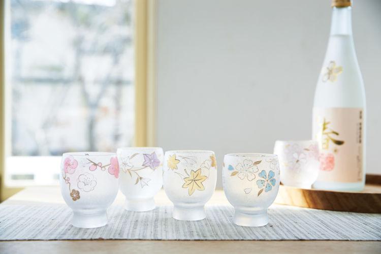 季節に合わせて美しい桜の酒器で美酒を 「桜酒グラス」