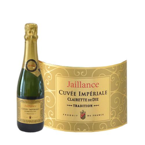 スパークリングワインとバラの黄金コンビにスイーツをセットしたギフト