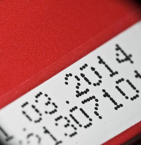 焼酎のラベルに記載された日付は何?