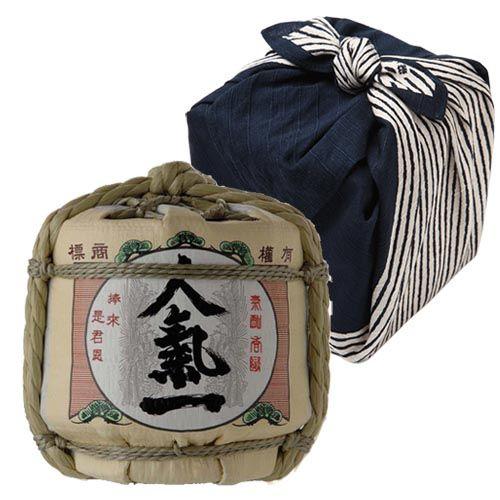 かわいい豆樽の日本酒を「ありがとう」てぬぐいに包んで送ろう