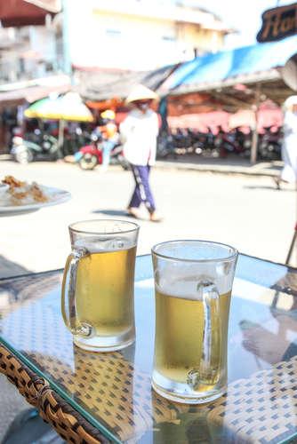 東南アジアで飲むビール